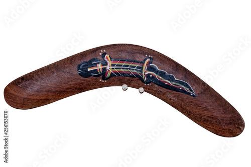 australia boomerang isolated on white Wallpaper Mural