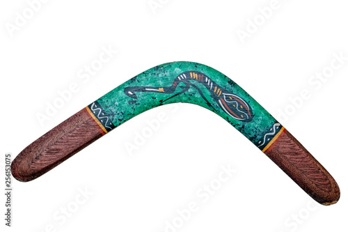 australia boomerang isolated on white Wallpaper Mural