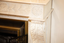 Old Fireplace Carved And Worke...