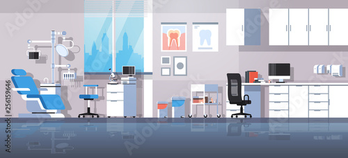 Fotografía  professional dentist workplace chair and tools dental room cabinet tooth care co