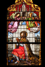 Saint Ladislaus, Stained Glass In Zagreb Cathedral