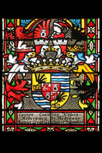 Coat Of Arms Of Ban Khuen Hedervary, Stained Glass In Zagreb Cathedral