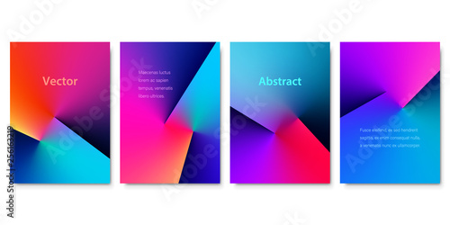 Obraz Set of Colorful Angle Gradient Backgrounds. Minimalistic Cover Design for Branding, Banners, Posters and Brochures. EPS10 Vector. - fototapety do salonu
