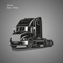 Modern American Truck Vector I...