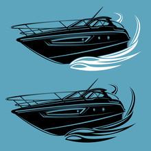Small Yacht Isolated Illustrat...