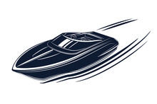 Speedboat Isolated Vector Illu...