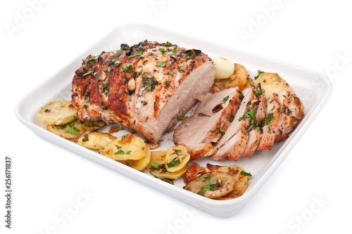 Photo Boneless Pork Loin Roast with Herbed Pepper Rub