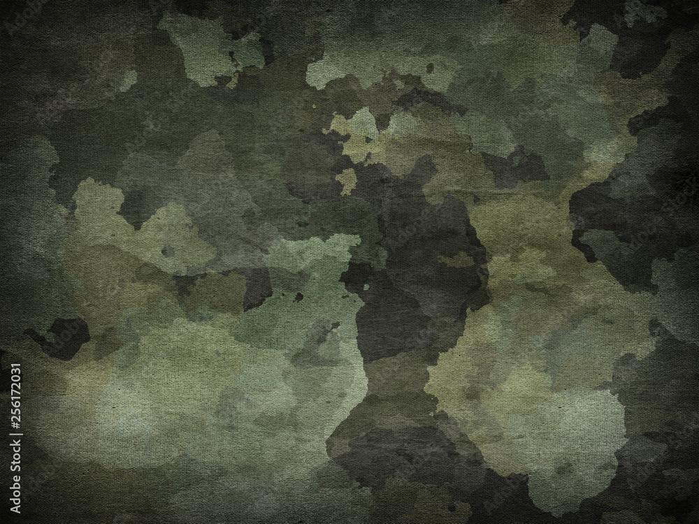 Fototapeta Dirty camouflage fabric texture