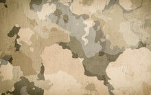 Dirty Camouflage Fabric Textur...
