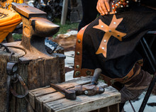 Detail Of Medieval Blacksmith'...