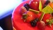 Fruit cake berries dessert