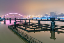 Night View Of Lupu Bridge On H...