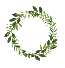 Green Leaf Floral Wreath