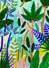Colorful Tropical Jungle