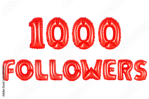 Fotografía  one thousand followers, red color