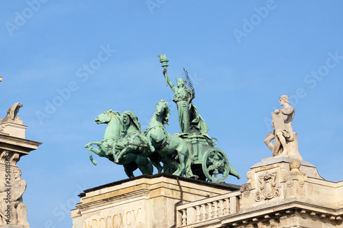 Fotografija  Statues on roof of Museum of Ethnography in Budapest, Hungary
