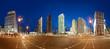 Panorama des Potsdammer Platz Berlin zur blauen Stunde 360°