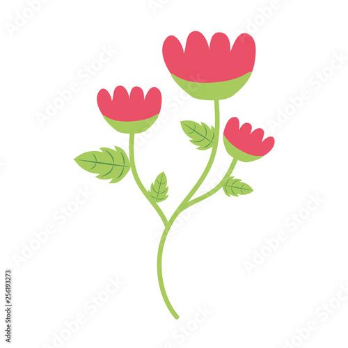 Fototapeta flower with stem and leaves obraz na płótnie
