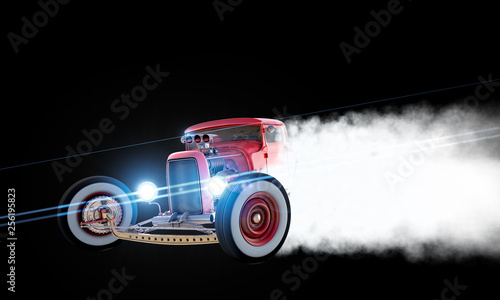 Carta da parati Hot Rod Drift 3D render