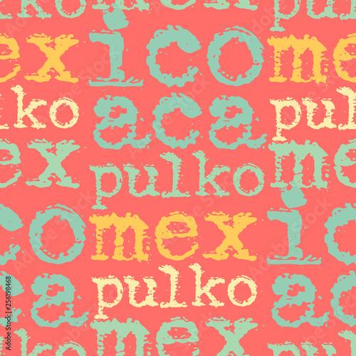 Fényképezés  Acapulco, mexico seamless pattern