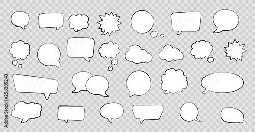 Photo Big set of speech bubbles