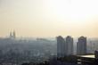 Seoul, South Korea - 17 March 2019: a dusty view of Seoul from Namsan, Seoul, Korea