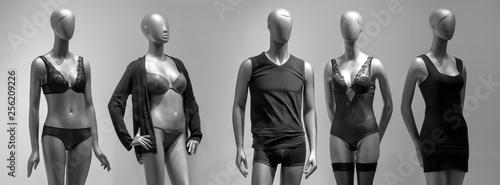 Photo Modern and luxury shop of underwear