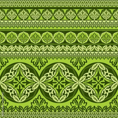 green flower ornament #256210412