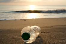 Spilled Trash On The Beach . E...