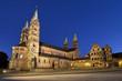 canvas print picture - Kaiserdom Bamberg zur blauen Stunde