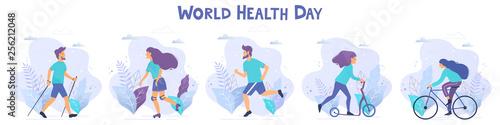 World health day vector illustration Wallpaper Mural
