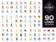 Logo collection. Number concepts. Isolated vector icons. Set of symbol and sign for company logo designing