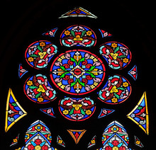 Stained Glass Windows In The Saint Eugene - Saint Cecilia Church, Paris, France