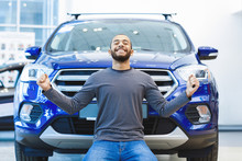 Happy Young African Man Buying A New Car