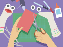 Hand Sock Puppets Illustration