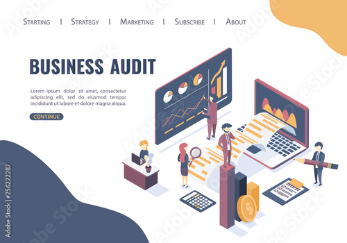 The concept of business auditing Wallpaper Mural