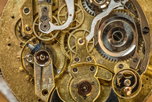 Vintage Mechanical Pocket Watch Being Repaired