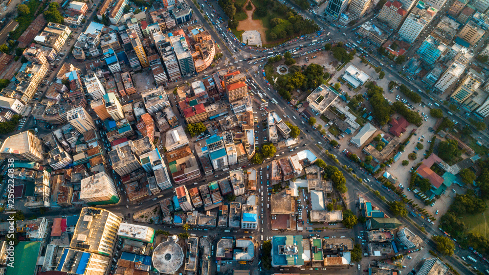 Fototapety, obrazy: aerial view of the city of Dar es Salaam