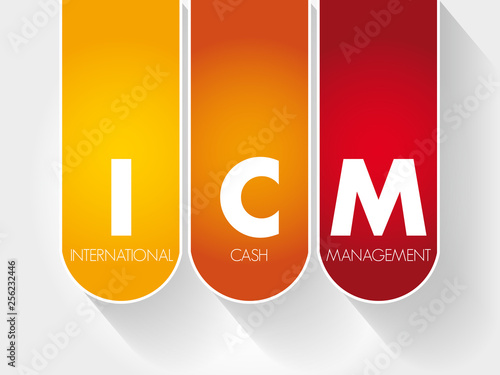 Fotografia, Obraz  ICM - International Cash Management acronym, business concept