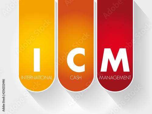 Valokuva  ICM - International Cash Management acronym, business concept