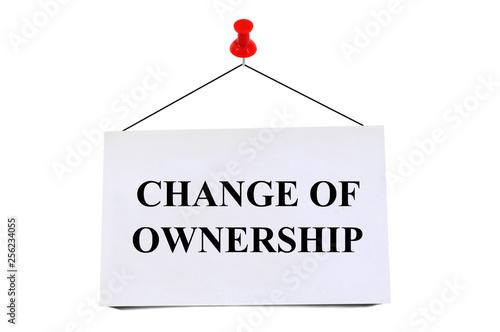 Fotografie, Obraz  Change of ownership