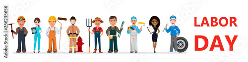 People of different occupations celebrate Labor Day