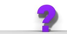 Question Mark 3d Purple Asking Sign Interrogation Point Symbol Graphic
