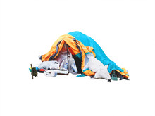 Tarp Homeless Tent Isolated On...