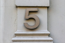 House Number Five On A White S...