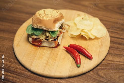 Fotografía  Pulled pork burger
