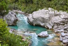 Soca River Near Kobarid, Strea...