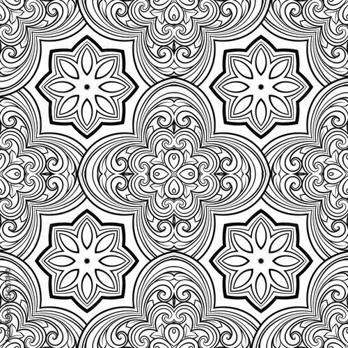 Fotografie, Obraz  Seamless geometric line pattern in eastern or arabic style