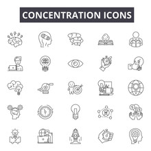Concentration Line Icons For W...
