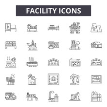Facility Line Icons For Web An...